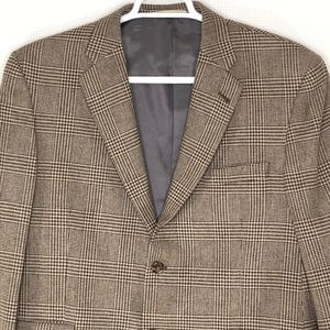 Burberry London Glen Plaid 100% Wool Sport Coat 44